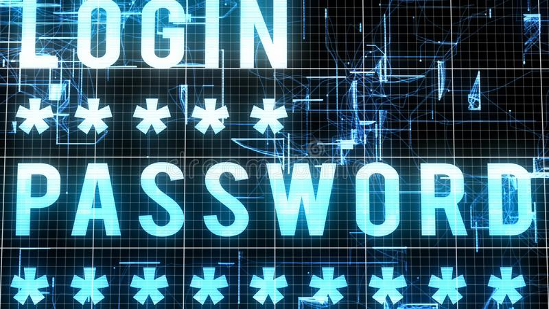 Многослойное изображение пароля имени пользователя иллюстрация штока