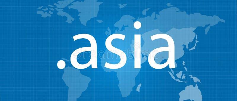 многоточие концепция домена вектора карты Азии голубая иллюстрация вектора