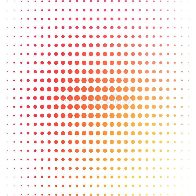 Многоточия полутонового изображения вектора Различные круги цветов на белой предпосылке Иллюстрация с multicolor градиентом иллюстрация штока