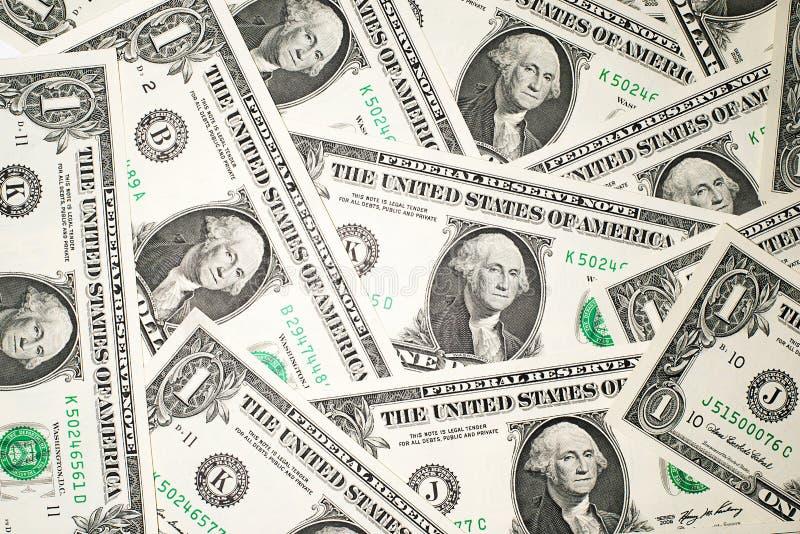 Много банкноты один доллар США стоковые изображения