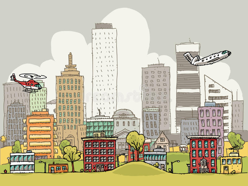 многодельный город бесплатная иллюстрация
