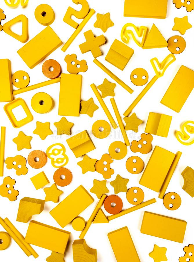 Много желтых игрушек стоковое фото