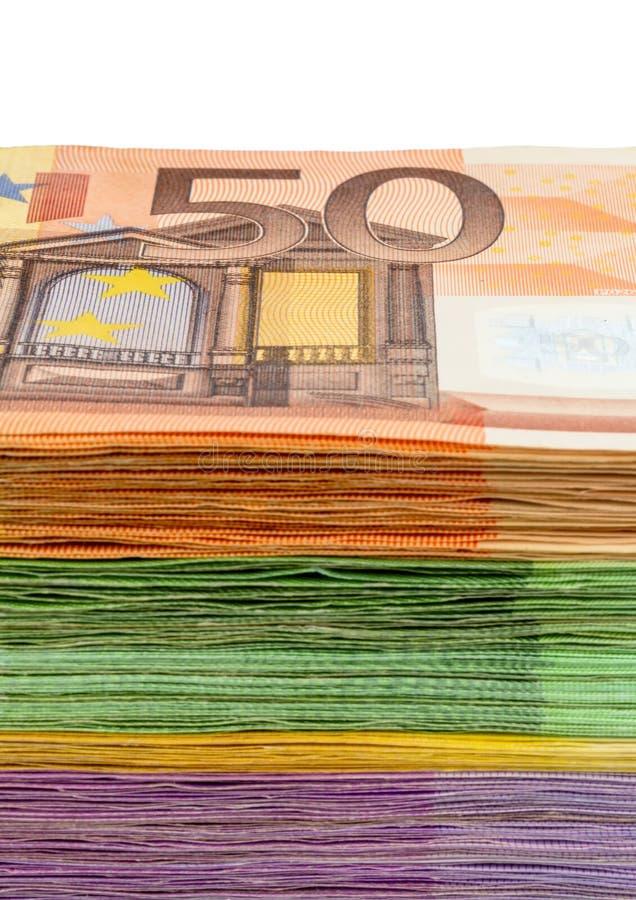 Много кредиток евро стоковые изображения