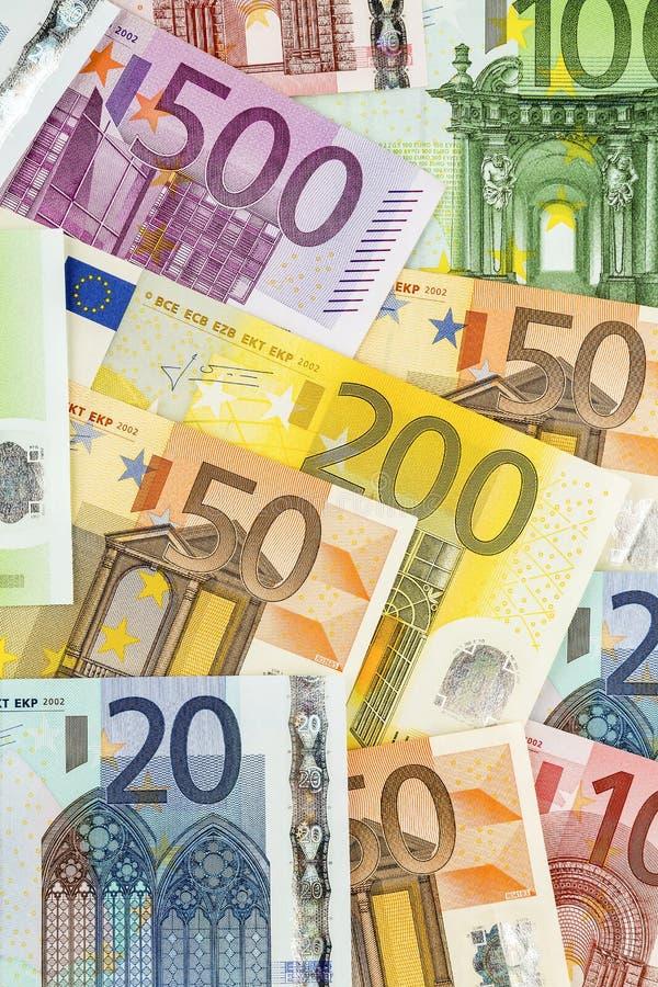 Много кредиток евро стоковое изображение