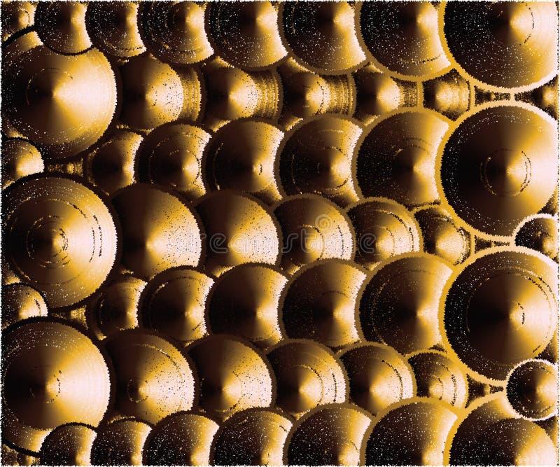 Много крышек, выглядя как золото иллюстрация штока