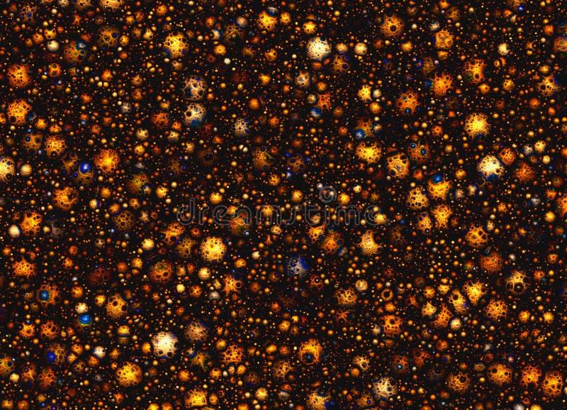 Много малый метеорит с кратерами на космосе играет главные роли предпосылки иллюстрация штока