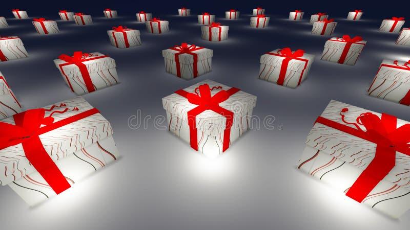 Много подарочная коробка иллюстрация штока