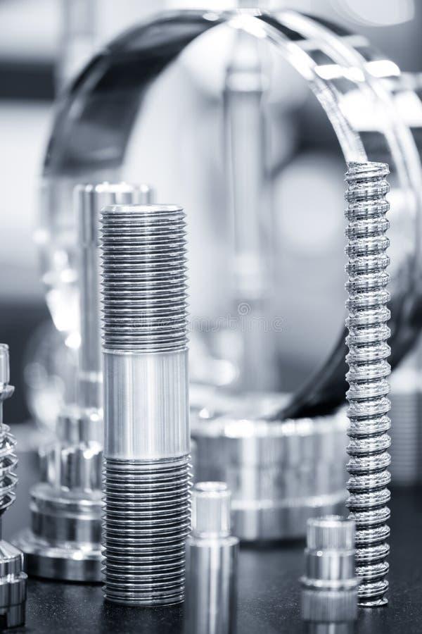 Много типов металла детализируют предпосылку проектирования промышленного объекта стоковое фото