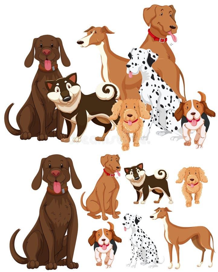 Много типов собак бесплатная иллюстрация