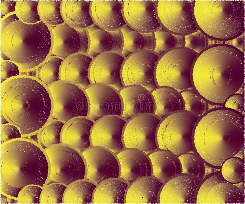 Много цветов крышек, коричневых и желтых иллюстрация вектора
