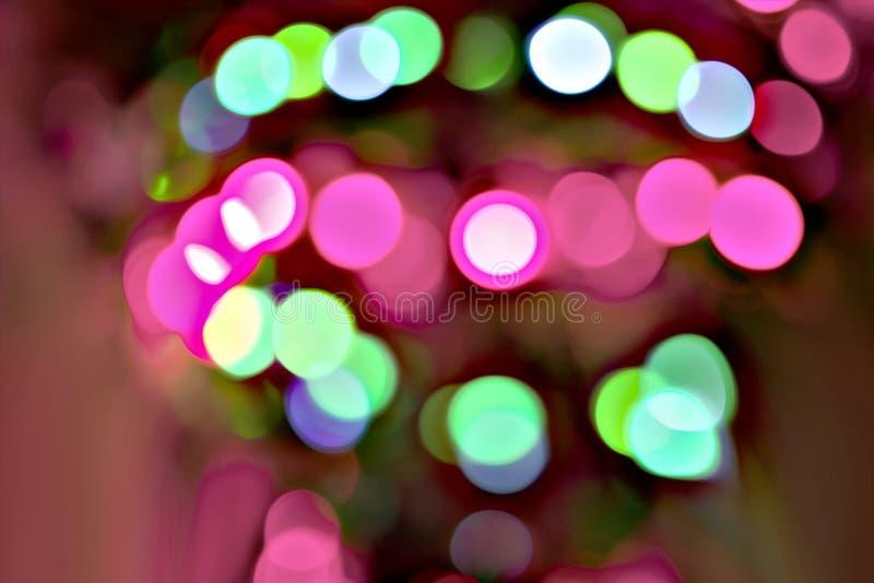 Много blured бактерий закрывают вверх под микроскопом Аннотация стоковые фотографии rf