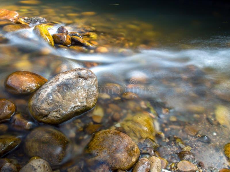 Множественная выдержка воды и утесов стоковые изображения rf