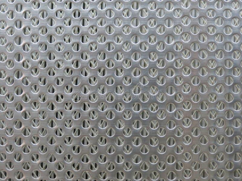 Множественная круговая предпосылка сетки металла отверстия стоковая фотография rf