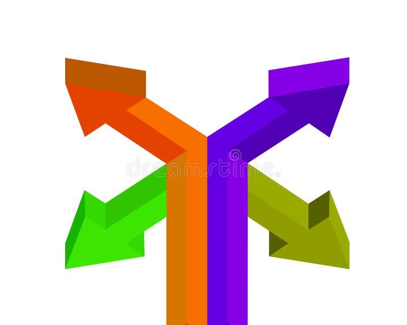 Множественный значок стрелки загрузки в плоском стиле цвета иллюстрация штока