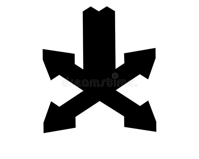 Множественный значок стрелки загрузки в плоском стиле цвета иллюстрация вектора