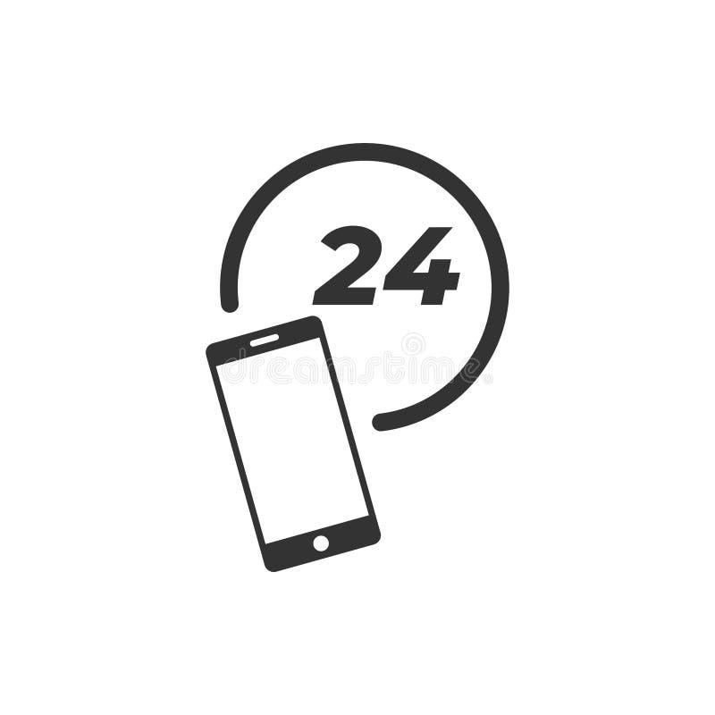 Мобильный вектор шаблона графического дизайна значка поддержки бесплатная иллюстрация