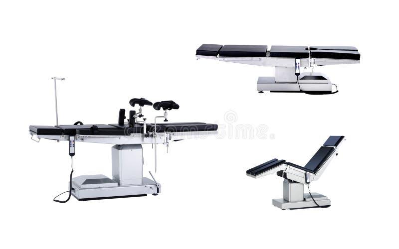 Мобильный операционный стол, изолированный на белой предпосылке стоковые фотографии rf