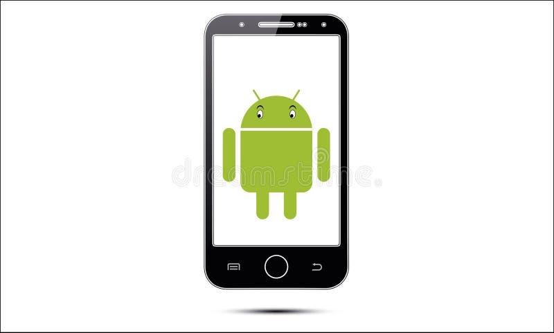 Мобильный телефон андроида иллюстрация штока