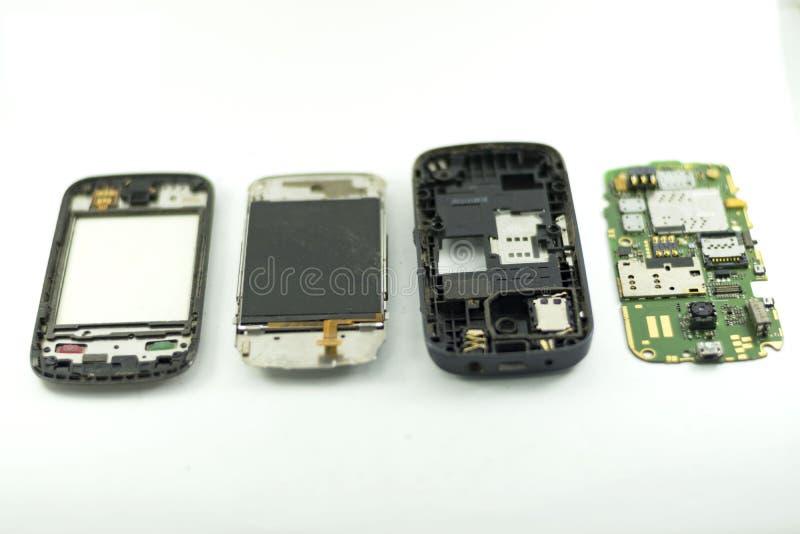 Мобильный телефон демонтирует стоковые фотографии rf