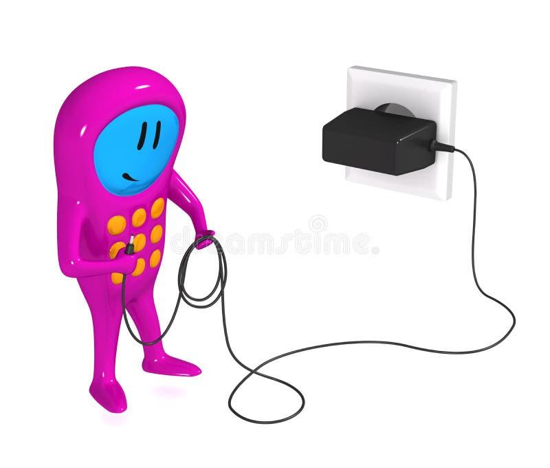 мобильный телефон заряжателя клетки иллюстрация штока