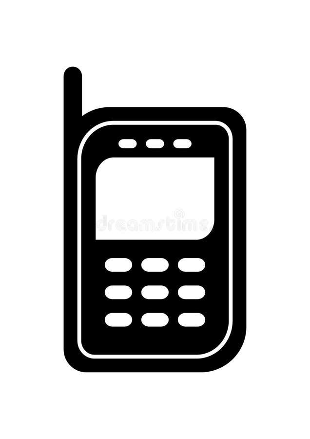 мобильный телефон иконы иллюстрация вектора
