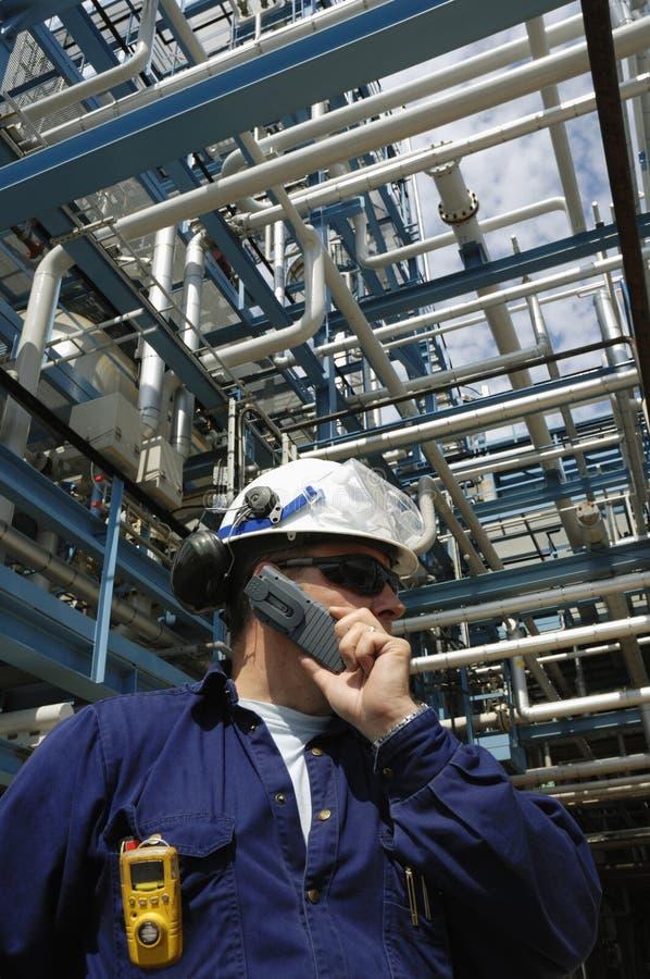 мобильный телефон инженера стоковая фотография rf