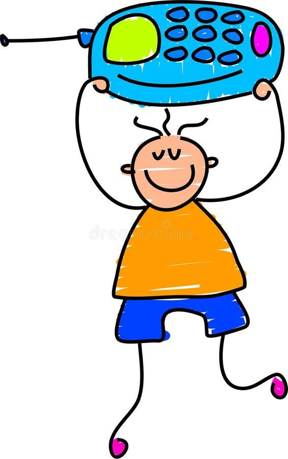 мобильный телефон мальчика бесплатная иллюстрация