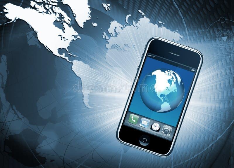 мобильный телефон связи иллюстрация вектора