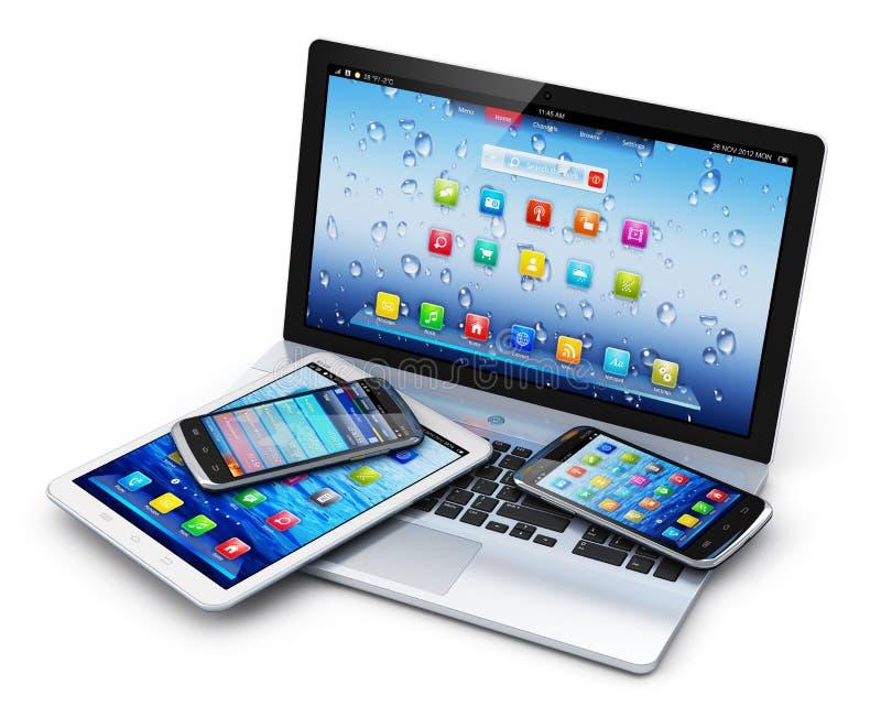 Мобильные устройства иллюстрация штока