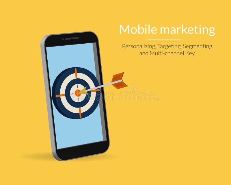 Мобильный маркетинг иллюстрация штока