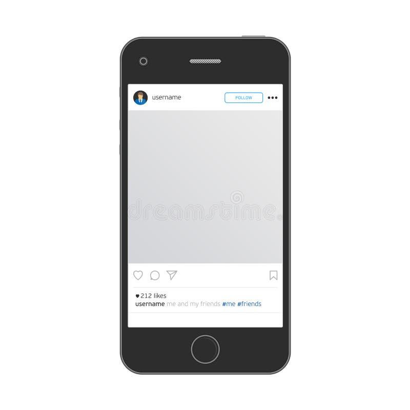 Мобильный телефон с app иллюстрация штока