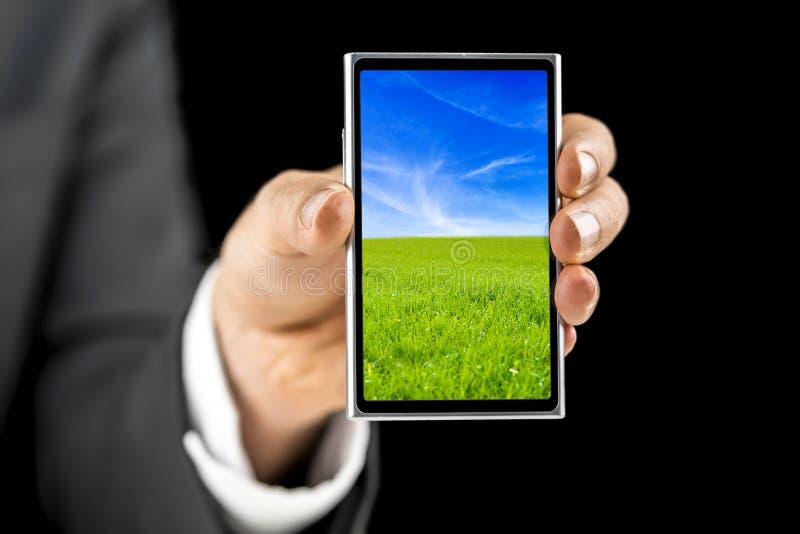 Мобильный телефон экрана касания стоковые изображения rf