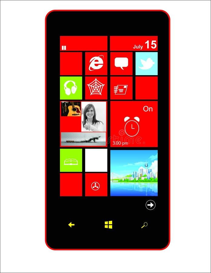 Мобильный телефон экрана Tuch стоковые фотографии rf