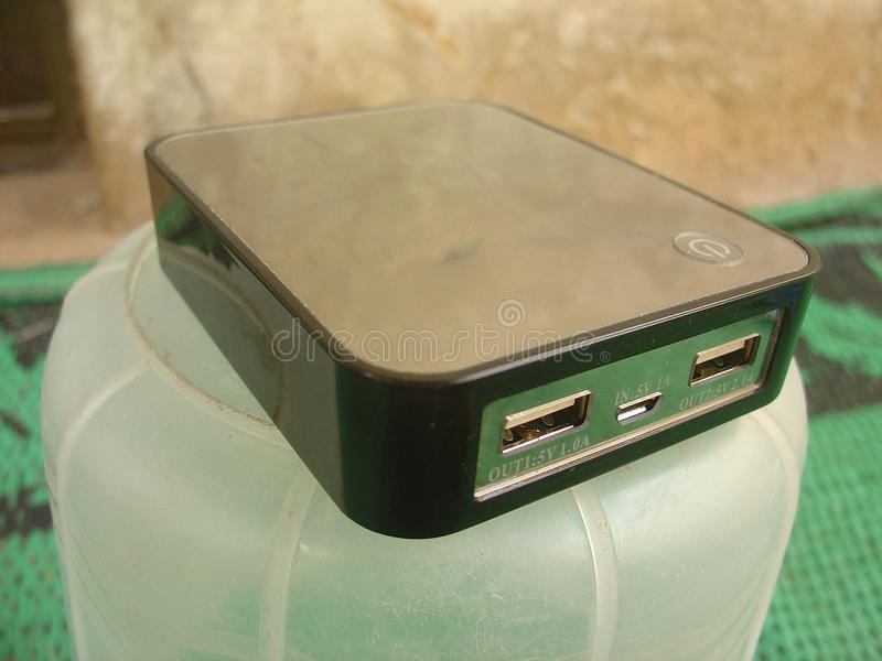 Мобильный телефон Recharger стоковое фото rf