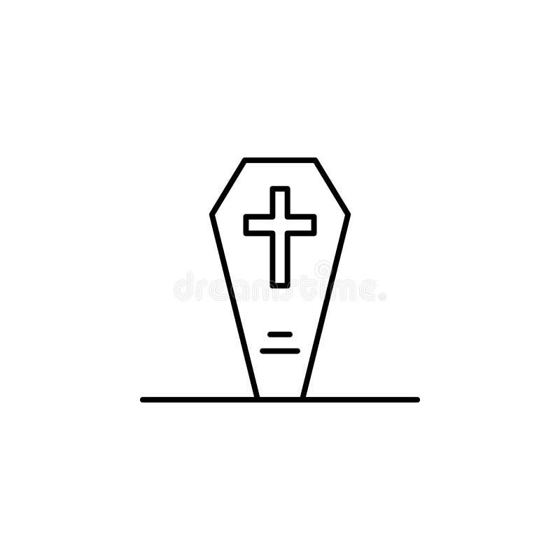 могила, гроб, значок плана смерти детальный набор значков иллюстраций смерти r бесплатная иллюстрация