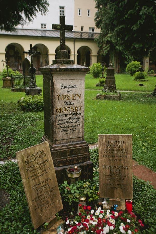Могила жены Constanze Mozart Mozart's стоковое изображение rf