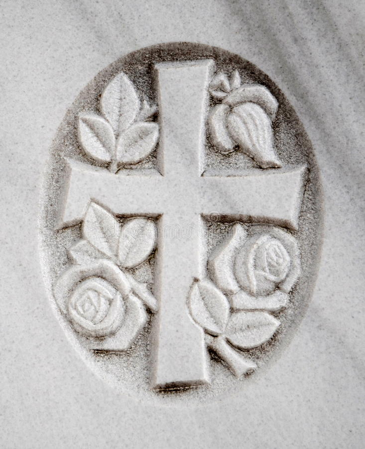 Могила распятия цветка стоковые изображения rf