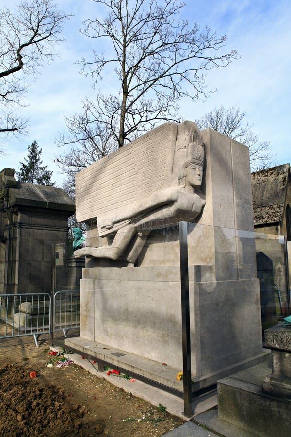 Могила Оскара Wilde. стоковое изображение