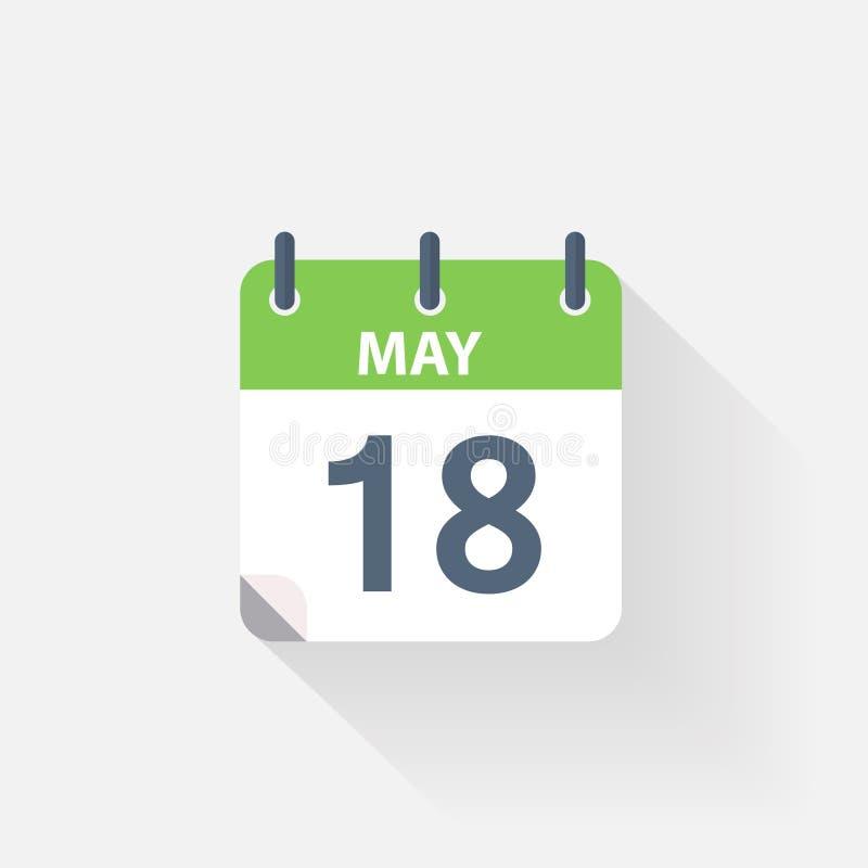 18 могут calendar значок иллюстрация штока