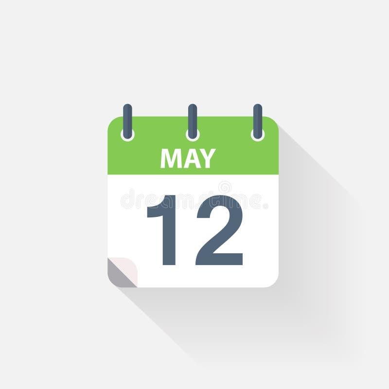 12 могут calendar значок иллюстрация вектора
