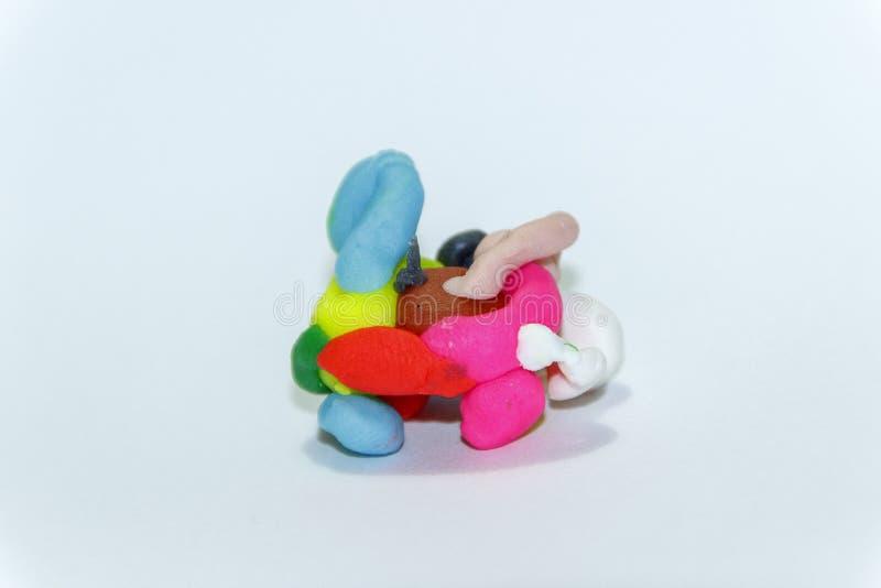 моделирование глины цветастое стоковое изображение