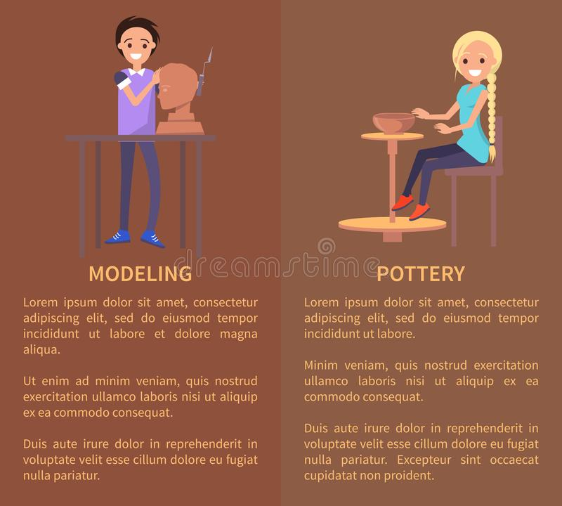 Моделирование и Potterry, иллюстрация вектора цвета бесплатная иллюстрация