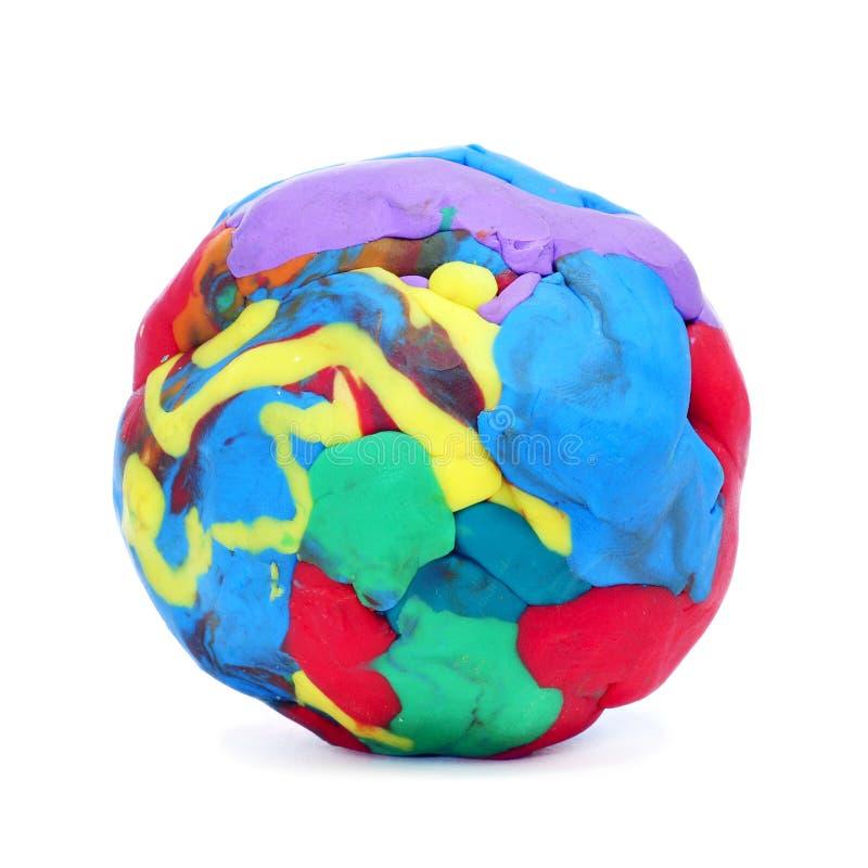 Моделирование шарика глины стоковое фото rf