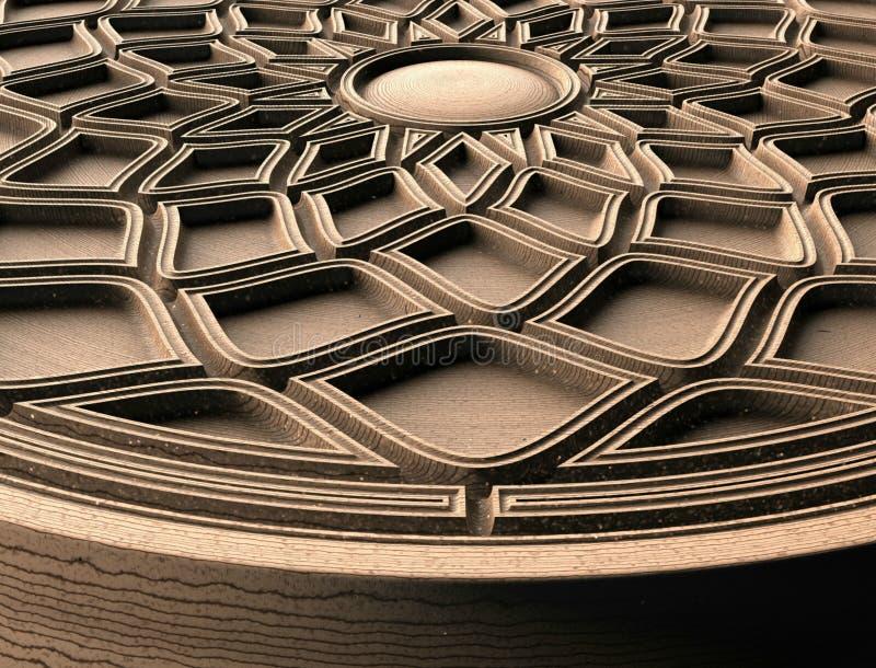 Модели для архитектурноакустического дизайна интерьера, 3D иллюстрации, художник, текстура, графический дизайн, архитектура, иллю иллюстрация вектора