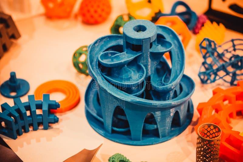 Модели напечатанные принтером 3d r стоковое фото