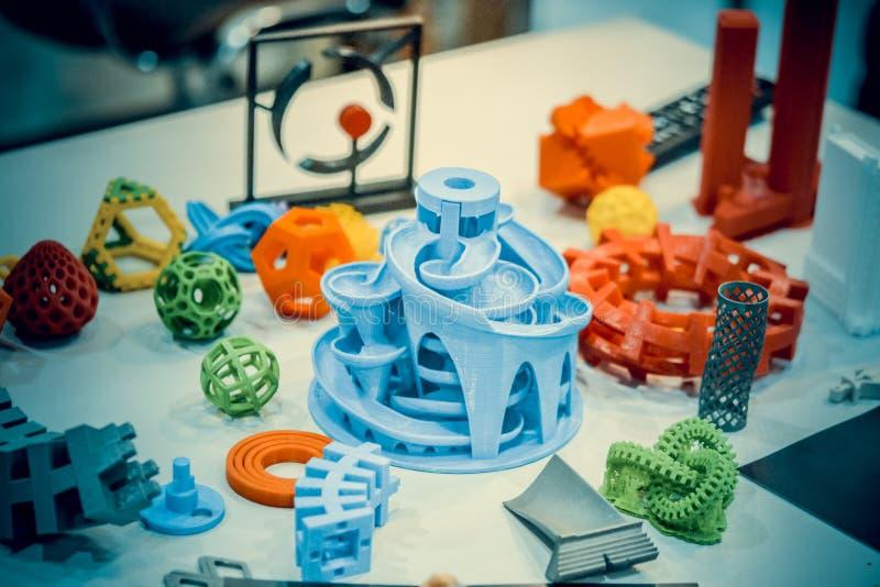 Модели напечатанные принтером 3d r стоковая фотография rf