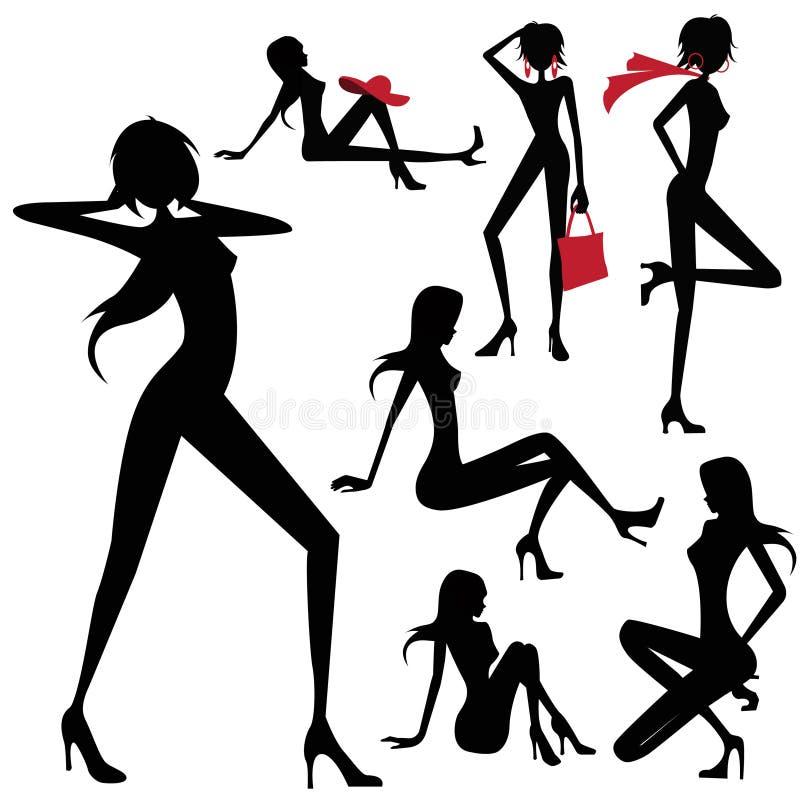 модельная женщина вектора бесплатная иллюстрация