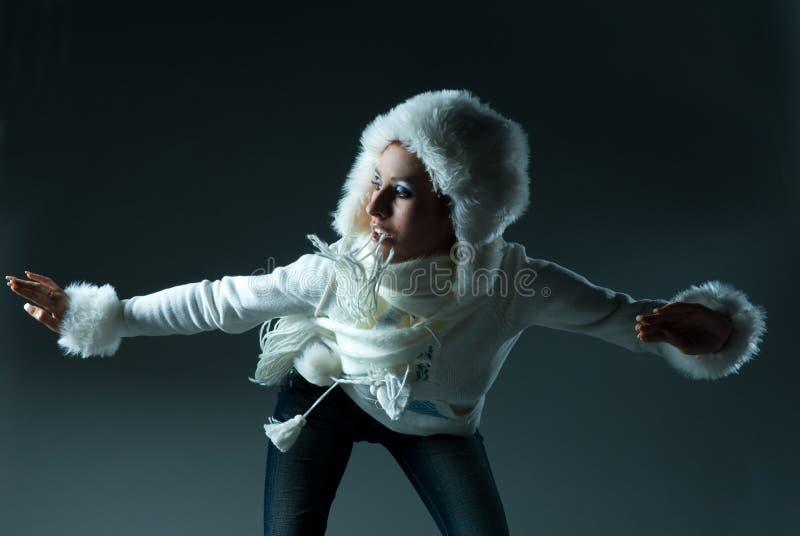 модельная зима стоковое фото rf