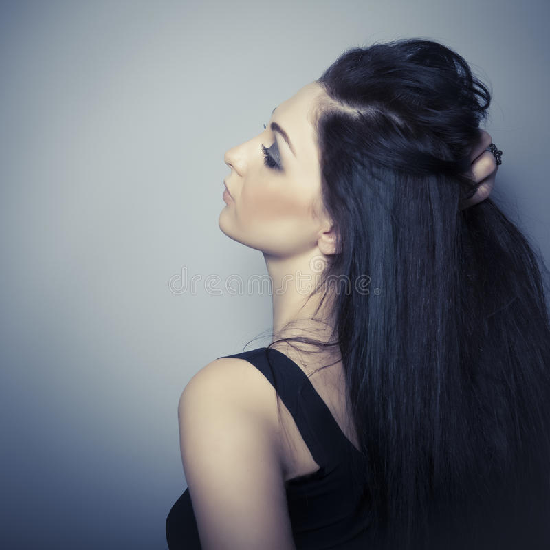 модельная чувственная женщина стоковое изображение rf