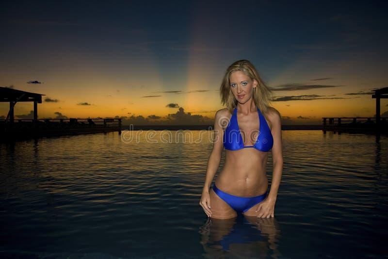 модельный восход солнца стоковое фото rf